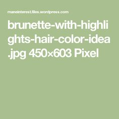 brunette-with-highlights-hair-color-idea.jpg 450×603 Pixel