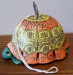 String Holder Dispenser Turtle with scissors and by findergirls, $25.00
