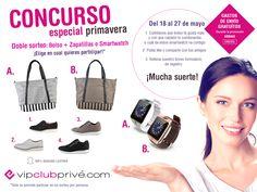 Sorteo VIPCLUBPRIVE - Bolso y zapatillas Genuine Leather y Smartwatch J-61 + Semana de gastos de envío gratis