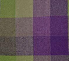 Melin Tregwynt. Multicheck Aubergine Blanket