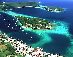 Vanuatu ~ This page is about many aspects of the archipelago, formerly known as the New Hebrides. Here you will find comprehensive information about Vanuatu in its diversity: geography, economy, science, people, culture, environment, government and history. You will have access to newspapers from Vanuatu and you will find travel and tourism information for Vanuatu.    | http://www.nationsonline.org/oneworld/vanuatu.htm ____  Photo: Efate Island - Port Vila