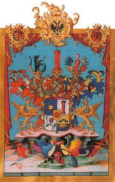 Austrian Grant of Nobility and arms to Friedrich Freiherr Binder von Krieglstein, 1759.