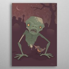 Sickly Zombie by John Schwegel Wall Art Prints, Canvas Prints, Canvas Art, Wall Decor, Posters, Fine Art, Metal, Home Decor, Wall Hanging Decor