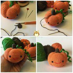 Puskuspin: ❤ Patrón Amigurumi Calabaza - Amigurumi Pumpkin Pattern