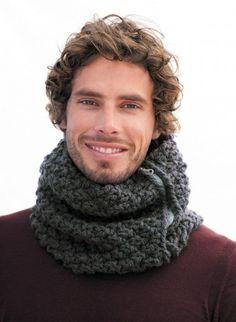 Kit Snood homme - Recyclaine Fumée - avec aiguilles Kits, broderie & tricot Achat en ligne