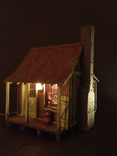 greggsminiatureimaginations: I just finished a new little wood cabin which is m...