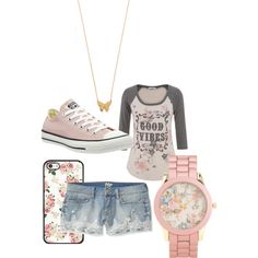Floral Frolic by mzeshem on Polyvore featuring polyvore fashion style maurices Aéropostale Converse Jennifer Zeuner