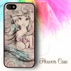 """Vintage Ariel Little Mermaid"" available For Iphone 4/4s/5/5s/5c case , Samsung Galaxy S3/S4/S5/S3 mini/S4 Mini/Note 2/Note 3 case , HTC One X and HTC One M7 case"