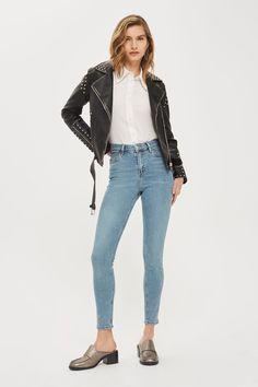 MOTO Winter Bleach Jamie Jeans - Topshop USA