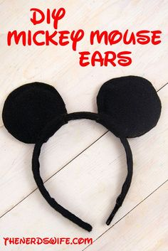 DIY Mickey Mouse Ears -- The perfect way to show your #DisneySide! We gave these out as favors at our Mickey Mouse Birthday Party and the kids LOVED them!