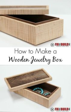 Making a simple DIY wooden jewelry box is not as hard as you think. Come see how you can make this beauty with a very small amount of tools and no special joinery or fasteners. Just some cuts on the tablesaw and you are done!