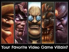 I really like the illustrations for these game bosses/villians. Left to Right: Wario, M. Bison, Dr. Robotnik, King Koopa, Ganon (or Ganondorf)