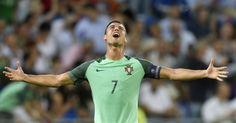 Cristiano Ronaldo extravasou ao comemorar a vaga de Portugal na final da Eurocopa
