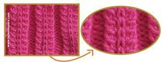 tutorial: punto espiga elástico tejido en dos agujas o palillos