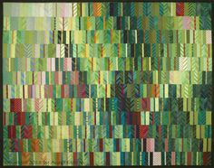 "Quilt Inspiration: A fine art : the colorful quilts of Ann Feitelson, Patch of Swiss Chard, 55 x 77"", c. 2013"