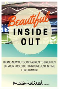 Get summer ready with beautiful, durable outdoor fabrics for your next design project #outdoorfabrics #commercialfabrics #outdoorrooms #interiordesign #poolfabrics #commercialprojects