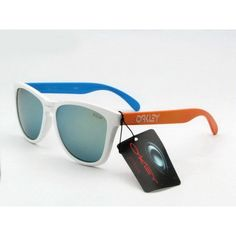 $12.99 Discount Oakley Frogskins Sunglasses White Blue Orange Frame Yellow Blue Iridium Store Deals www.racal.org Blue Orange, Yellow, Oakley Frogskins, Sunglasses, Frame, Store, Hot, Fashion, Picture Frame
