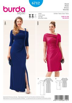 Burda 6712 Misses' and Plus Size Shirt Dress sewing pattern