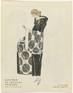 Bon Ton By Mourgue 1922 Fashion Pochoir Lithograph Big Clearance Sale Soir De Paris