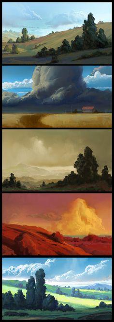 ArtStation - Environment sketches, Mathias Zamęcki