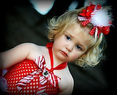 Christmas Candy Cane Hair Bow by Sammy Banany's Hair by iguania03, $8.99