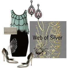 Web of Silver, created by b-anavi on Polyvore