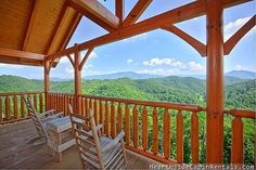 Smoky Mountain High -- Grab a cup of coffee and sit on the porch while taking in the breathtaking views of the Smoky Mountains