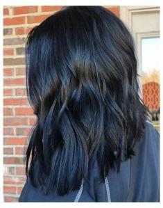 Blue Brown Hair, Blue Black Hair Color, Dark Hair With Blue, Dark Brown, Black Ombre, Green Hair, Dark Purple, Blue Hair Highlights, Caramel Highlights