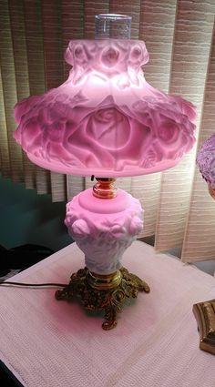 Antique Hurricane Lamps, Antique Oil Lamps, Antique Lighting, Vintage Lamps, Vintage Decor, Fenton Lamps, Fenton Glassware, Chandelier Design, Chandeliers
