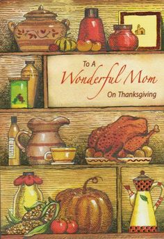 Thanksgiving Greeting Cards, Mom, Ebay, Mothers