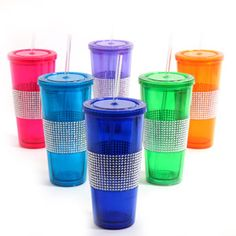 Gibson Home Chic Bling 20 oz Tumblers, Set of 6