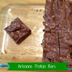 re·cipe: Arbonne protein bars, change to almond butter and agave nectar