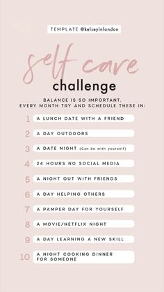 Story Template – Self Care Challenge - template created by sta. Self Care Activities, Self Improvement Tips, Instagram Story Template, Self Care Routine, Care Quotes, Hygiene, Fitness Workouts, Best Self, Self Development
