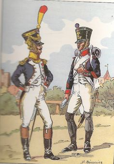 French; 18th Line Infantry, Voltigeur Officer & Fusilier Corporal, 1809