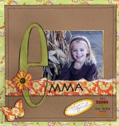 Accentuated name on scrapbook page. - Adaline Baby Name - Ideas of Adaline Baby Name - Cute! Accentuated name on scrapbook page. Album Scrapbook, Kids Scrapbook, Scrapbook Sketches, Scrapbook Page Layouts, Scrapbook Paper Crafts, Simple Scrapbooking Layouts, Picture Scrapbook, Scrapbook Photos, Picture Layouts