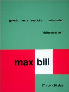 Max Bill — Galerie Anna Roepcke Wiesbaden (1962)