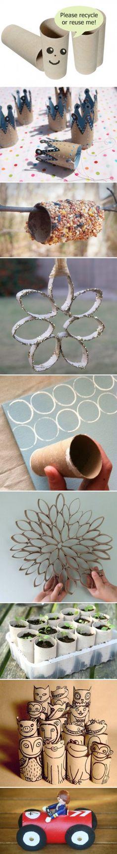 creatief met toiletrolletjes