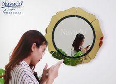 Contemporary Bathroom Designs, Modern Contemporary, Flower Mirror, Golden Flower, Living Room Decor, Things To Come, Wall Decor, Makeup, Mirror Ideas