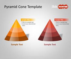 Free 3D Pyramid Cone PowerPoint Shapes Template is a PowerPoint template containing pyramid shapes in PowerPoint that you can use to decorate your presentations #shapes #powerpoint #free