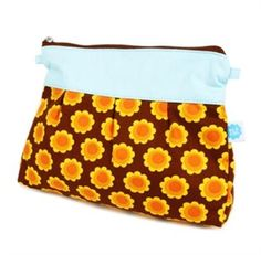 Shoulder Bag Orange Flowers - Scandicool - Scandinavian gifts, homewares and clothing