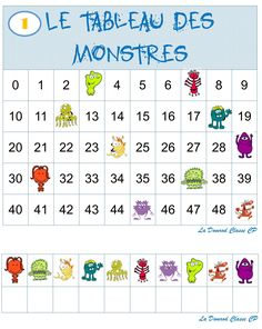 le tableau des monstres - Here's a List of Education Companies Offering Free Subscriptions to . 2nd Grade Math Worksheets, Math 2, Kindergarten Math, Math Activities, Preschool Activities, Early Education, Kids Education, Paper Crafts Magazine, Montessori Math