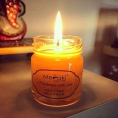 Bask in the warm glow of these handmade, eco-friendly, vegan, cruelty free this Essential Oil Brands, Essential Oil Carrier Oils, Natural Essential Oils, Beeswax Candles, Candle Jars, Natural Lifestyle, Meraki, 100 Pure, Cruelty Free