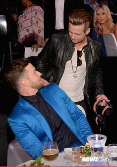 Ryan Tedder and Justin Timberlake at the iHeartRadio Music Awards Mar 29 2015 in LA