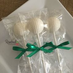 12 Chocolate Golf Ball Lollipop Favors Candy Sports Party