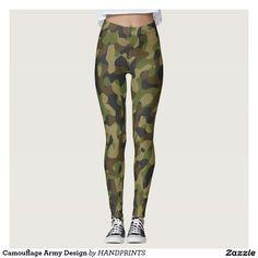 Camouflage Army Design Leggings