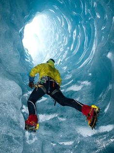 Ice climbing..even though I hate the cold this would be awesome