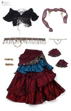iplehouse.com home shop item_explain.php?it_id=1653881225&lang=en&epik=0FOD7E_IW36Vx Belly Dance Outfit, Tribal Belly Dance, Belly Dance Costumes, Fortune Teller Costume, Moda Medieval, Fancy Dress, Dress Up, Gypsy Costume, Halloween Kostüm