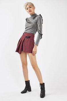 Punky Check Kilt Style Skirt