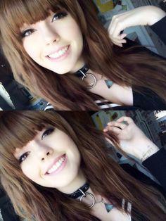 dark brown hair with straight across front bangs #leda #brunette #muir #ledamonsterbunny