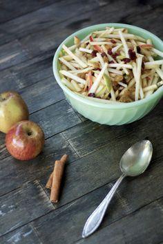 Apple Pear Slaw with Caramel Cider Vinaigrette